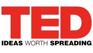 TED's logo with the slogan Ideas Worth Sharing